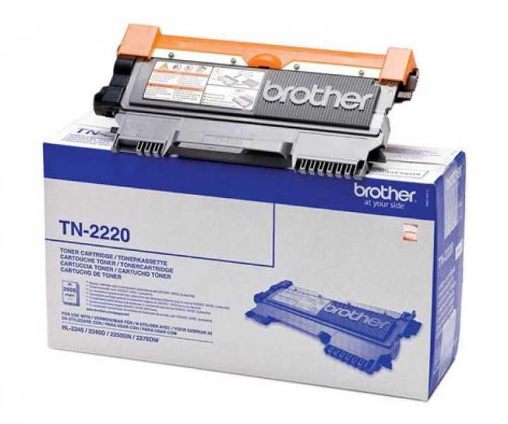 originál Brother TN-2220 black černý originální toner pro tiskárnu Brother DCP-7060