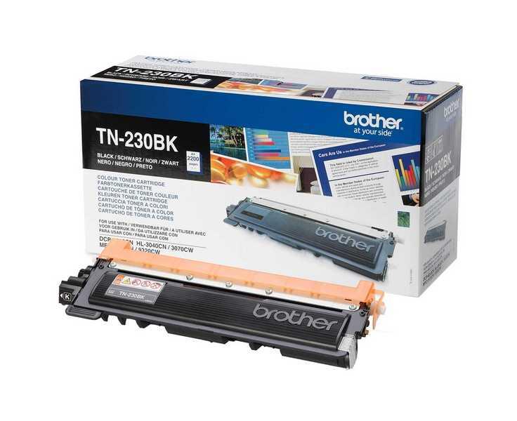 originál Brother TN-230BK black černý originální toner pro tiskárnu Brother MFC-9120CN