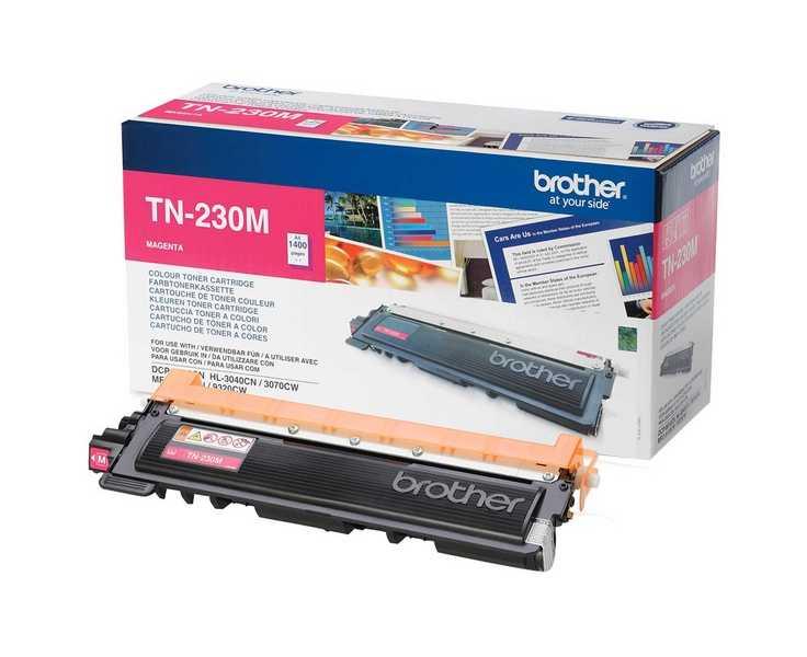 originál Brother TN-230M magenta purpurová originální toner pro tiskárnu Brother MFC-9120CN