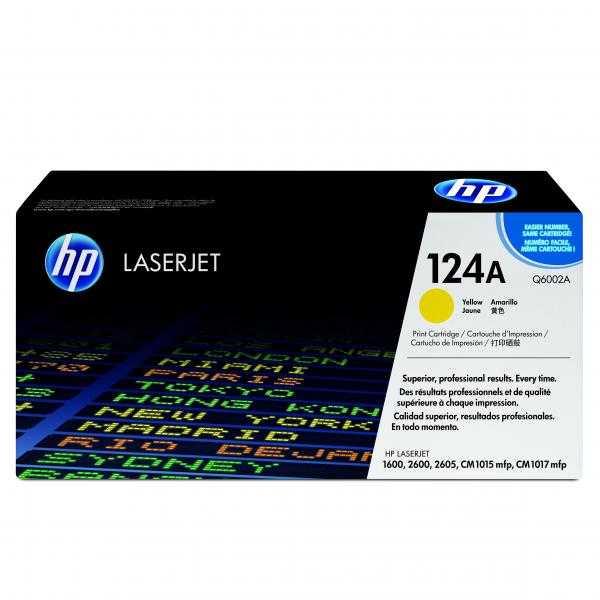 originál HP Q6002A yellow žlutý originální toner pro tiskárnu HP Color LaserJet 1600