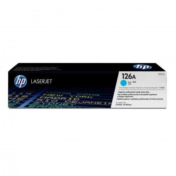 originál HP CE311A (HP 126A) cyan modrý azurový originální toner pro tiskárnu HP LaserJet Pro 100 Color MFP M175NW