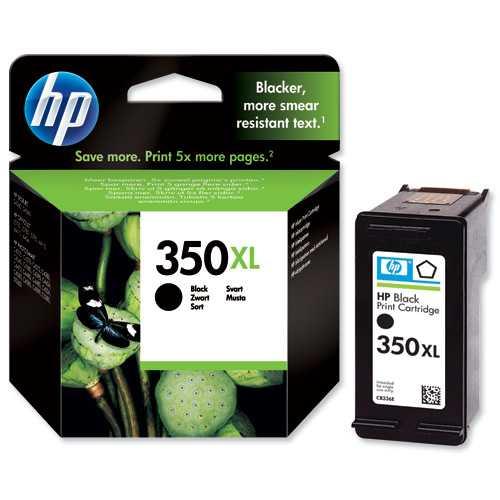 originál HP 350XL (CB336EE) black černá cartridge originální inkoustová náplň pro tiskárnu HP Photosmart C5280