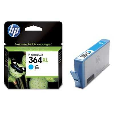 originál HP 364XL-C (CB323EE) cyan azurová originální cartridge pro tiskárnu HP Photosmart B109