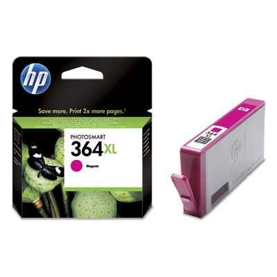 originál HP 364XL-M (CB324EE) - magenta purpurová červená originální cartridge pro tiskárnu HP Photosmart 5510