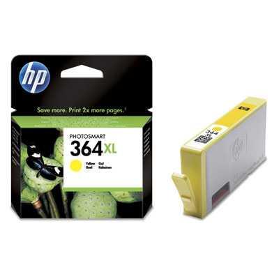 originál HP 364XL-Y (CB325EE) - yellow žlutá originální cartridge pro tiskárnu HP Photosmart D5460