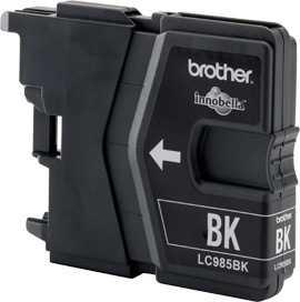 originál Brother LC985bk black cartridge černá originální inkoustová náplň pro tiskárnu Brother MFC-J415W
