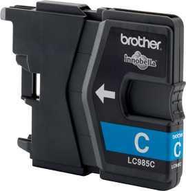 originál Brother LC985c cyan cartridge modrá azurová originální inkoustová náplň pro tiskárnu Brother MFC-J415W