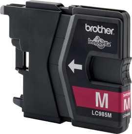 originál Brother LC985m magenta cartridge červená purpurová originální inkoustová náplň pro tiskárnu Brother MFC-J415W