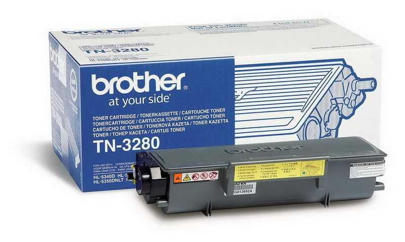 originál Brother TN-3280 black černý originální toner pro tiskárnu Brother MFC-8380DN