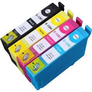 4x sada kompatibilní s Epson T1285 cartridge inkoustové náplně pro tiskárnu Epson Stylus SX125