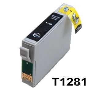 4x kompatibilní s Epson T1281 black cartridge černá inkoustová náplň pro tiskárnu Epson Stylus SX440W