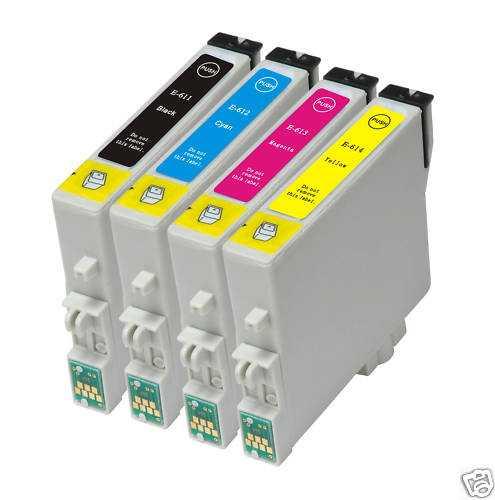 sada Epson T0615 (T0611, T0612, T0613, T0614) kompatibilní inkoustové náplně pro tiskárnu Epson Stylus D68