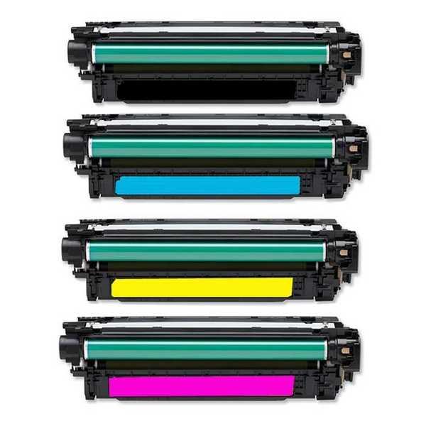 sada tonerů kompatibilní s HP 507X, HP CE400X, CE401A, CE402A, CE403A tonery pro tiskárnu HP Color LaserJet 4700n