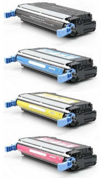 sada tonerů kompatibilních s HP 643A, HP Q5950A, Q5951A, Q5952A, Q5953A tonery pro tiskárnu HP Color LaserJet 4700ph plus