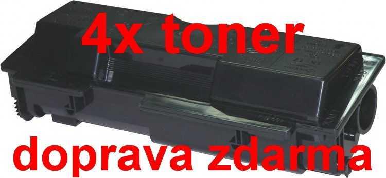 4x kompatibilní toner s Kyocera TK-17 black černý toner pro tiskárnu Kyocera FS-1010