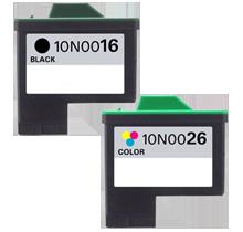 sada Lexmark 80D2126 #16+#26 10N0016-10N0026 inkoustová kompatibilní cartridge pro tiskárnu Lexmark X