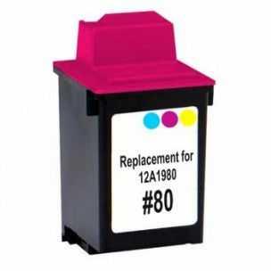 Lexmark #80 12A1980 color barevná inkoustová kompatibilní cartridge pro tiskárnu Lexmark Color JetPrinter 7200