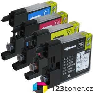 sada Brother LC-1240 (LC-1240BK, LC-1240C, LC-1240M, LC-1240Y) 4x kompatibilní inkoustová cartridge pro tiskárnu Brother MFC-J5910DW
