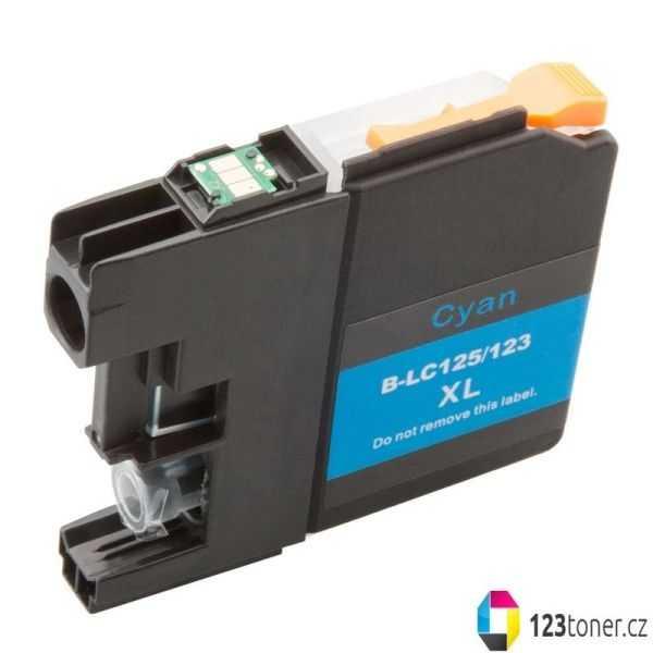 kompatibilní s Brother LC125XL C cyan cartridge modrá azurová inkoustová náplň pro tiskárnu Brother DCP-J4110DW