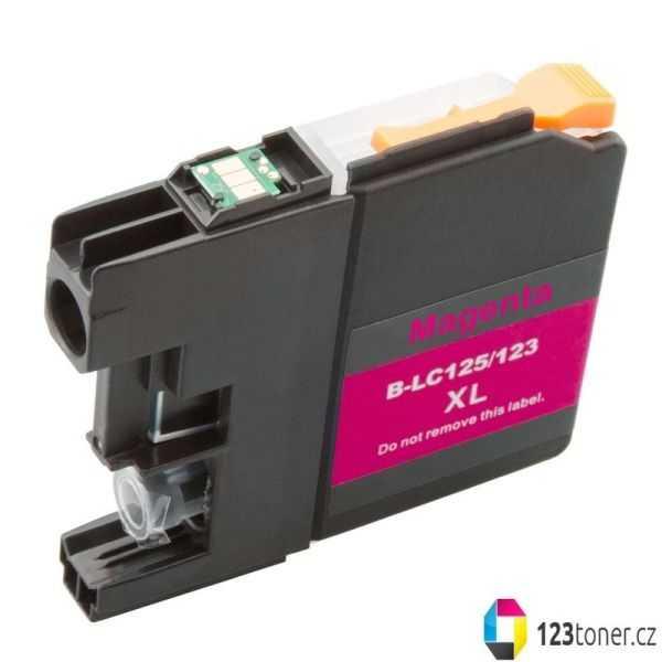 kompatibilní s Brother LC125XL M magenta cartridge červená purpurová inkoustová náplň pro tiskárnu Brother DCP-J4110DW