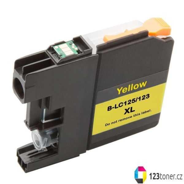 kompatibilní s Brother LC125XL Y yellow cartridge žlutá inkoustová náplň pro tiskárnu Brother DCP-J4110DW