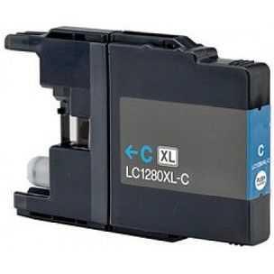 Brother LC-1280XLC cyan azurová modrá kompatibilní inkoustová cartridge pro tiskárnu Brother MFC-J6510DW