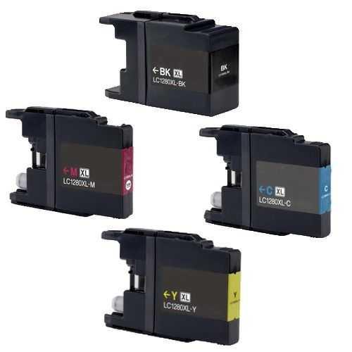 sada Brother LC-1280XL kompatibilní inkoustové cartridge pro tiskárnu Brother MFC-J6510DW