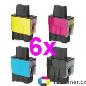 6x sada Brother LC-900 cartridge kompatibilní inkoustová náplň pro tiskárnu Brother DCP-310CN