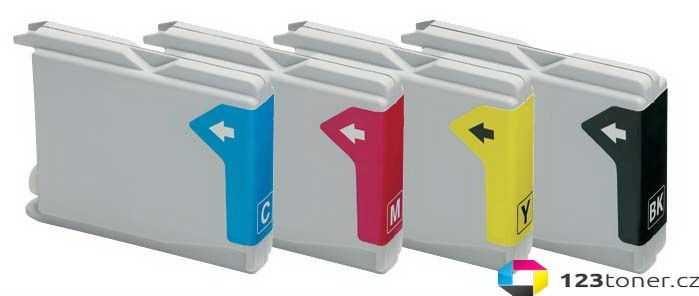 sada Brother LC970/LC1000 cartridge kompatibilní inkoustová náplň pro tiskárnu Brother MFC-685CW