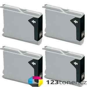 4x Brother LC970BK/LC1000BK black cartridge černá kompatibilní inkoustová náplň pro tiskárnu Brother MFC-440CN