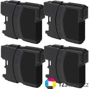 4x Brother LC980BK/LC1100BK black cartridge černá kompatibilní inkoustová náplň pro tiskárnu Brother DCP-145C