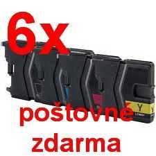 6x sada Brother LC-985 cartridge kompatibilní inkoustová náplň pro tiskárnu Brother MFC-J415W