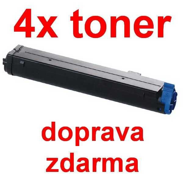 4x kompatibilní toner s OKI O4400 (43502302) black černý toner pro tiskárnu OKI B4600ps