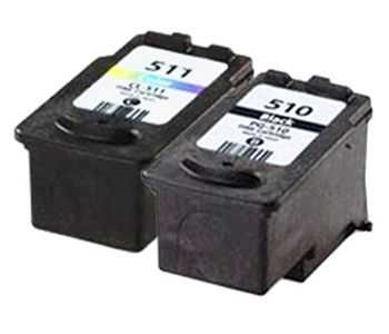 sada Canon PG-510 + Canon CL-511 multipack black, color černá, barevná kompatibilní cartridge inkoustové náplně pro tiskárnu Canon PIXMA MP250