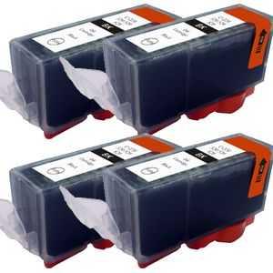 4x Canon PGI-520bk black cartridge černá kompatibilní inkoustová náplň pro tiskárnu Canon PIXMA MP540