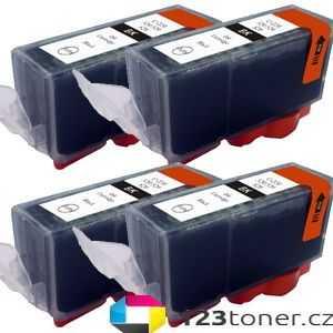 4x Canon PGI-525bk black cartridge černá kompatibilní inkoustová náplň pro tiskárnu Canon PIXMA iP4950