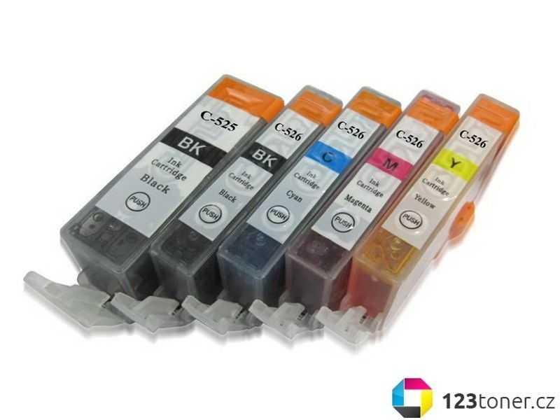 sada Canon PGI-525 + CLI-526 cartridge kompatibilní inkoustové náplně pro tiskárnu Canon PIXMA iP4950