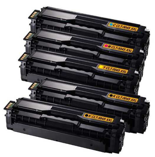 sada kompatibilních tonerů s Samsung CLT-P504S - 5x toner (CLT-K504S, CLT-C504S, CLT-M504S, CLT-Y504S) tonery pro tiskárnu Samsung Xpress C1860FW