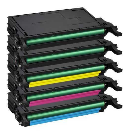 sada kompatibilních tonerů s Samsung CLT-P5082L - 5x toner (CLT-K5082L, CLT-C5082L, CLT-M5082L, CLT-Y5082L) tonery pro tiskárnu Samsung CLX-6220
