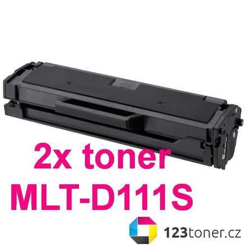 2x kompatibilní toner s Samsung MLT-D111S (1200 stran) black černý toner pro tiskárnu Samsung Xpress M2070W