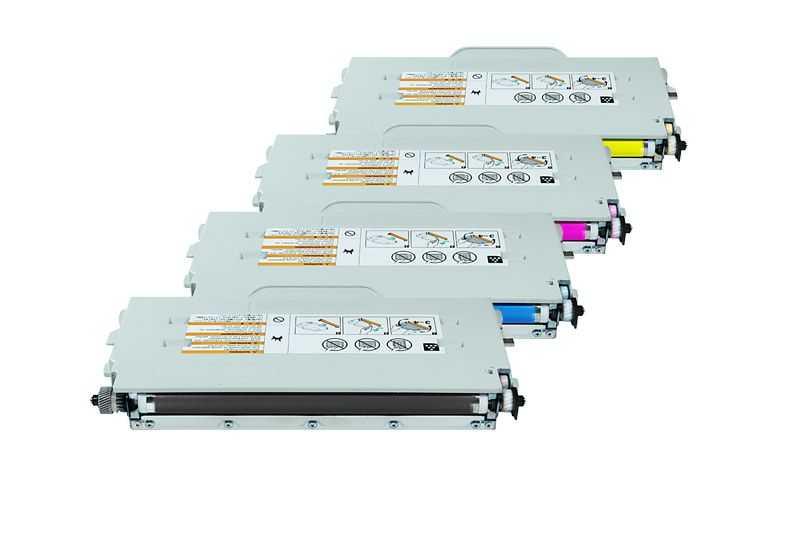 sada kompatibilních tonerů s 4x Brother TN-04BK, TN-04C, TN-04M, TN-04Y tonery pro tiskárnu Brother MFC-9420CN