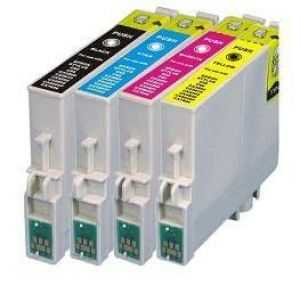 sada Epson T0445 (T0441, T0442, T0443, T0444) kompatibilní inkoustové náplně, cartridge pro tiskárnu Epson Stylus C64