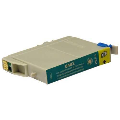 Epson T0482 cyan azurová cartridge, modrá kompatibilní inkoustová náplň pro tiskárnu Epson Stylus Photo RX600