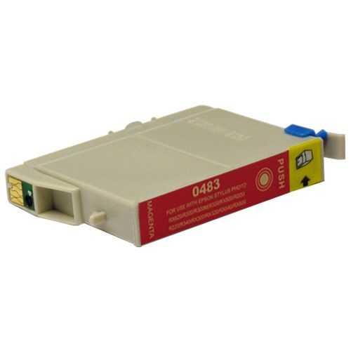 Epson T0483 magenta cartridge, červená purpurová kompatibilní inkoustová náplň pro tiskárnu Epson Stylus Photo RX600