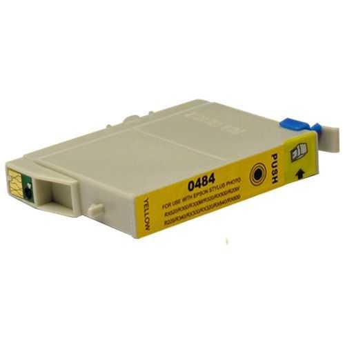 Epson T0484 yellow cartridge, žlutá kompatibilní inkoustová náplň pro tiskárnu Epson Stylus Photo RX600