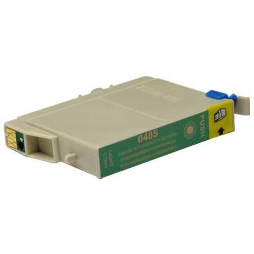 Epson T0485 cyan cartridge, modrá azurová foto kompatibilní inkoustová náplň pro tiskárnu Epson Stylus Photo RX600