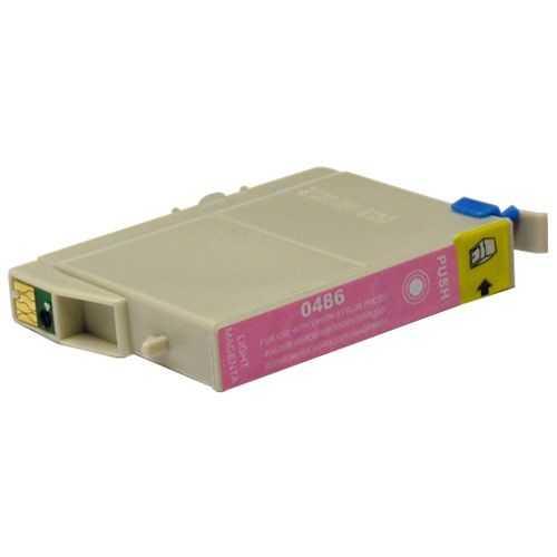 Epson T0486 magenta cartridge, červená purpurová foto kompatibilní inkoustová náplň pro tiskárnu Epson Stylus Photo RX600