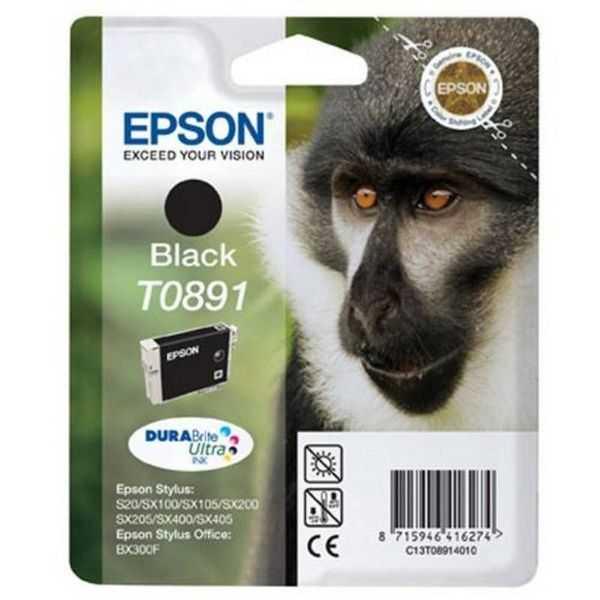 originální Epson T0891 black cartridge černá originální inkoustová náplň pro tiskárnu Epson Stylus SX105