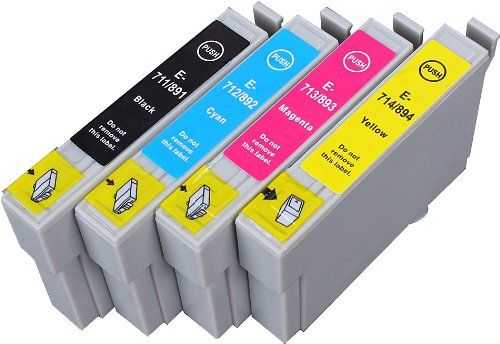 sada Epson T0895 - 4 kusy (T0891, T0892, T0893, T0894) kompatibilní náplně - inkousty pro tiskárnu Epson Stylus SX218