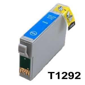 Epson T1292 cyan cartridge modrá azurová kompatibilní inkoustová náplň pro tiskárnu Epson Stylus Office B42WD